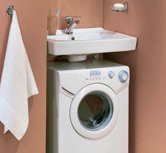 Установка стиральной машины под раковину